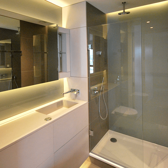 Tiling services in bathroom in London house