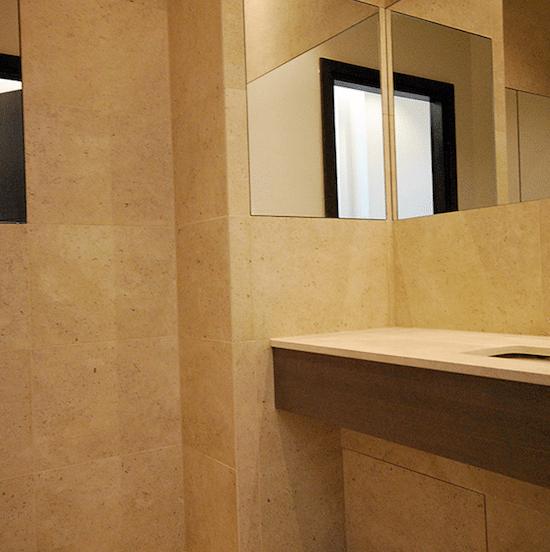 Bathroom in Kensington with a tiled bathroom