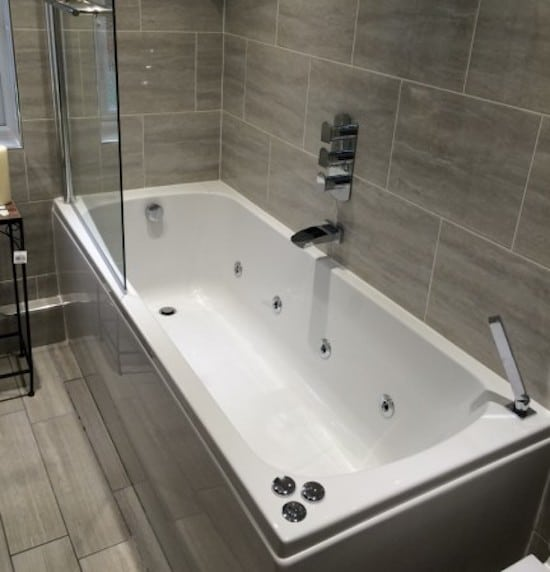 Tiling in Bathroom area of Sutton Home