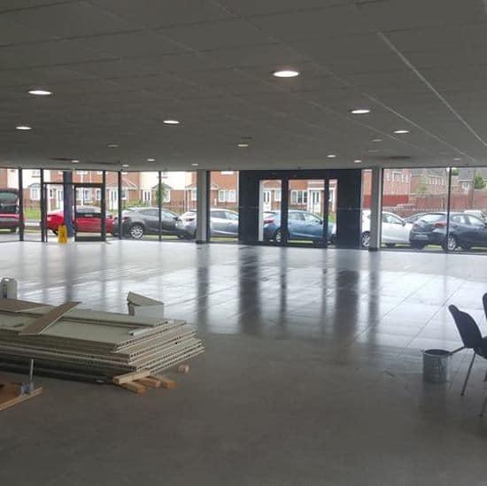 tiled flooring in London showroom