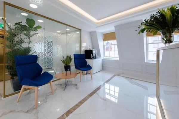 marble floor with golden strip