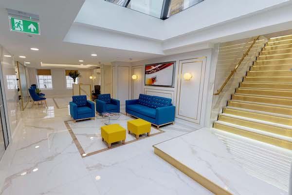 marble floored office meeting room